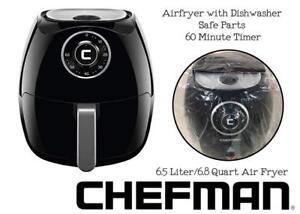 NEW Chefman 6.5 Liter/6.8 Quart Air Fryer with Space Saving Flat Basket Oil Hot Airfryer with Dishwasher Safe Parts 6...