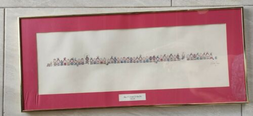 Vintage Bill William Eagan- We re Not Allowed To Cross The Street 36 By 17  - $129.00