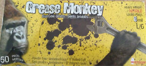 New Box Grease Monkey Disposable Gloves *Reduced to $10