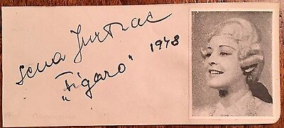 SENA JURINAC : 1921-2011 CROATIAN -AUSTRIAN  OPERA STAR  GENUINE AUTOGRAPH 1948