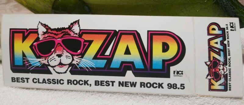 KZAP San Francisco Sacramento Rock Radio 98.5 bumper sticker O BroS 80