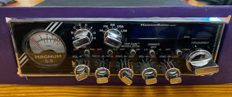 Magnum S-9 CB Radio -  AM / SSB  100% Working Condition, Purple Plate