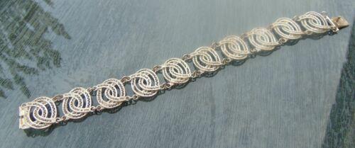 Omas Jugendstil Armband 800er Silber filigran verzierte Glieder
