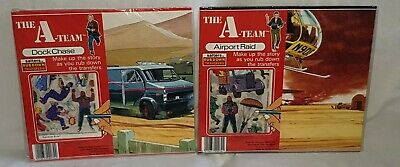 VINTAGE THE A-TEAM 1980'S SALTERS RUB DOWN TRANSFERS 2 SETS UNUSED SEALED
