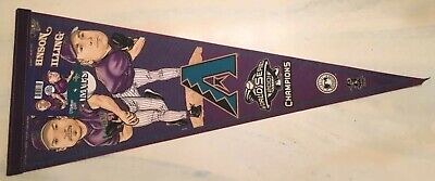 Arizona Diamondbacks 2001 World Series MVP Johnson/Schilling Licensed Pennant 2001 World Series Mvp