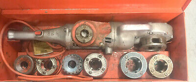 Ridgid 700 Electric Pipe Threader For Threading 34 - 2 12-r 8 Dies W Case