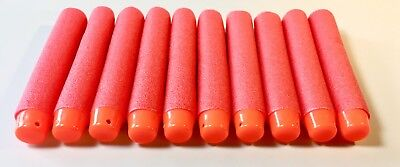 100 ROTE Nachfüll Soft-Darts (Schaumstoffpfeile) 7,2cm x 1,3cm