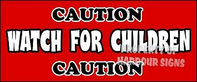 Caution Watch For Children Safety Sign Decal 18 Concession Ice Cream Truck Sign