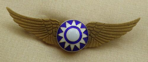 CHINESE PILOT WING BADGE // FLYING TIGER AVG / USAF WW2 VERSION 1