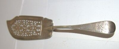 Superb silver plated curved and pierced cake slice server-wedding cake?