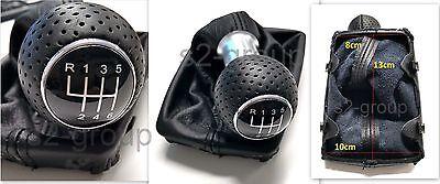 AUDI A4 B6 B7 GEAR SHIFT STICK GAITER KNOB 6 SPEED BLACK NEW