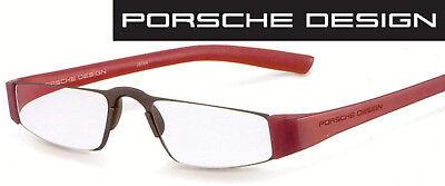 Porsche Design P 8801 B Rot/schwarz +1,0 bis +4,0 Lesebrille Computerbrille  Brille Computer
