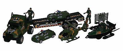 Army Armee Militär Spielzeug Spielset Spielfiguren Fahrzeuge Panzer Jeep Boot