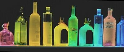 Ultra Thin 42 Color Led Liquor Bottle Display  Behind Bar Shelf Wremote Black
