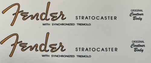 Stratocaster Headstock waterslide decal X 2