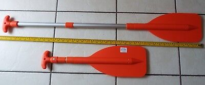 2 X Telescopic Boat Dinghy, Inflatable, Rib, Boat, Paddle Oars Emergency Folding