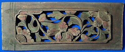 Antique Chinese Wood Pierced Flower Panel 14