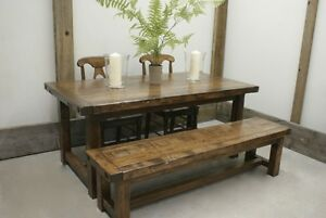 Solid Reclaimed Wood Provencal Dining Table by LIKEN Woodworks