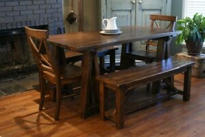 Harvest Dining Table $1195, All Solid Wood - By LIKEN Woodworks