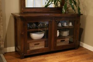 French Antique Glass Door Cabinet, All Solid Wood! By LIKEN Woodworks