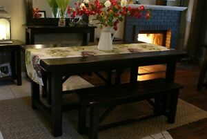 Rustic Dining Table, All Solid Wood! by LIKEN woodworks