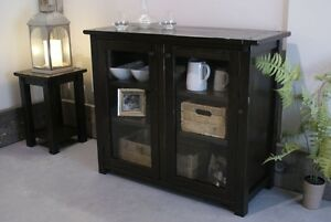 Solid Wood Buffet: Glass Doors and Adjustable Shelves. By LIKEN Woodworks