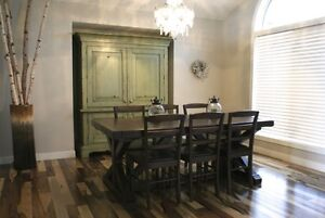 Rustic Solid Wood Dining Table by LIKEN Woodworks