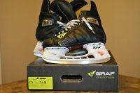 Graf G3 skates size 7.0 R w/ TUUK holders and Step steel runners