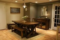 Solid Wood Furniture: Harvest Dining Table $1995 & more! -LIKEN