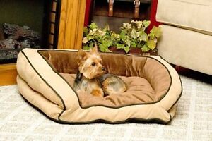 K-H-Mfg-Eco-Friendly-Bolster-Couch-Large-Mocha-and-Tan-Pet-Dog-Cat-Bed