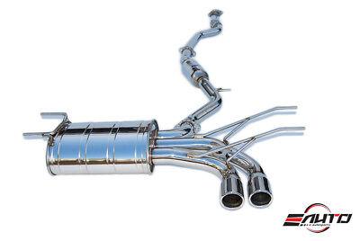 INVIDIA Q300 70mm Dual Stainless Tip Catback Exhaust for Miata MX5 MX-5 16-18 (Miata Dual Exhaust System)