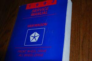 1993 DODGE / PLYMOUTH / CHRYSLER MINIVAN SERVICE MANUAL