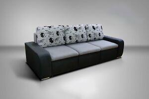 New Corner Sofa Bed EDDIE With Storage And Pop Up Ottoman