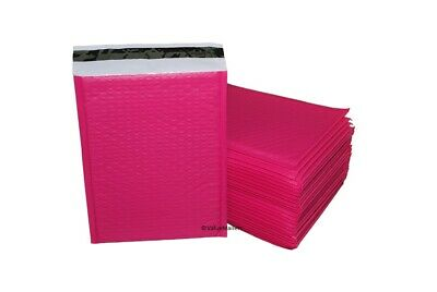 000 Pink Poly Bubble Mailers Envelopes Bags 4 X 8 Extra Wide Bag 25 100 500