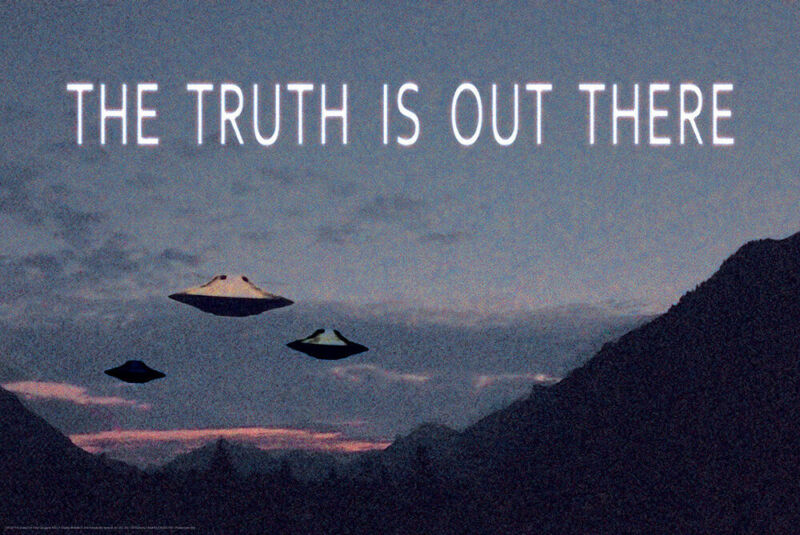 X-Files The Truth Is Out There UFO 24x36 Poster