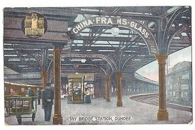 DUNDEE Tay Bridge Station Interior, Old Postcard Unposted