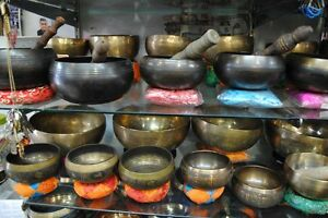 Bol Chantant Tibétains ,  Singing Bowls . Gong