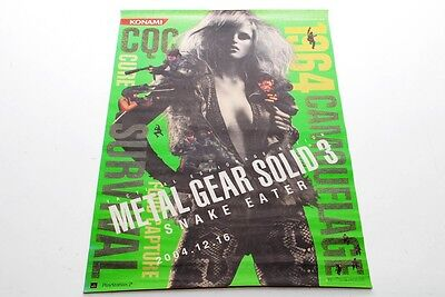 Rare Metal Gear Solid 3 Snake Eater PS2 Promo Poster B2 size (mn86)
