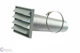 Venting kit 120 mm for cooker hood chimney duct