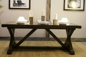 Reclaimed Wood Extending Château Trestle Dining Table —By LIKEN