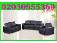 BRAND NEW-Luxury Italian Bonded Leather Sofa Set 3 & 2 & 1 Seater-Complete * delivery only in london