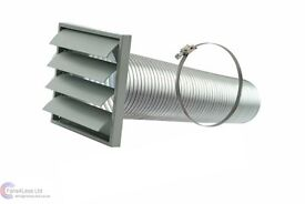 Venting kit 120 mm, new, cooker hood flue/chimney duct