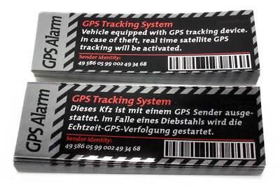 GPS Tracking System Sticker Alarm Diebstahl Alarmanlage Warnaufkleber DUB Aufkle