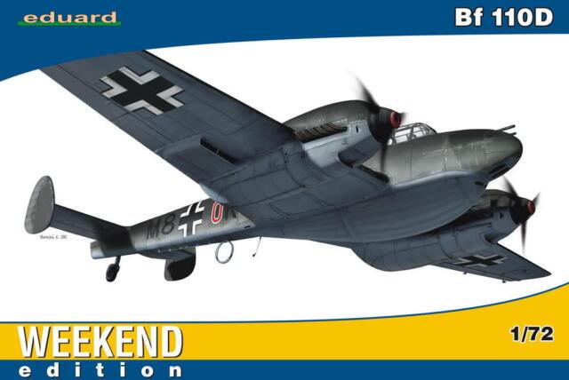 eduard Messerschmitt Me Bf-110D 110 D Norwegen 1940 Modell-Bausatz 1:72 NEU kit