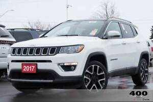 2017 Jeep Compass Limited **LEATHER**PANOROOF**BIGSCREEN**BACKUP