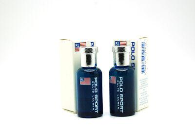 Polo Sport by Ralph Lauren 3/8 fl oz EDT Mini Splash for Men (Package of 2)