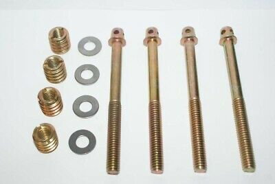 4 BOLTS Screws to Repair French Antique BEDS Replacement Thread Fixings