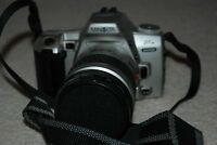 Minolta 35mm camera with extra zoom