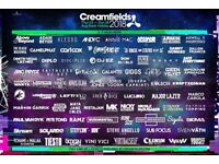 Creamfields 4 day gold camping ticket