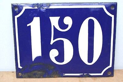 Extra Large 150 FRENCH Enamel House Sign Number Plate Door Blue Wall